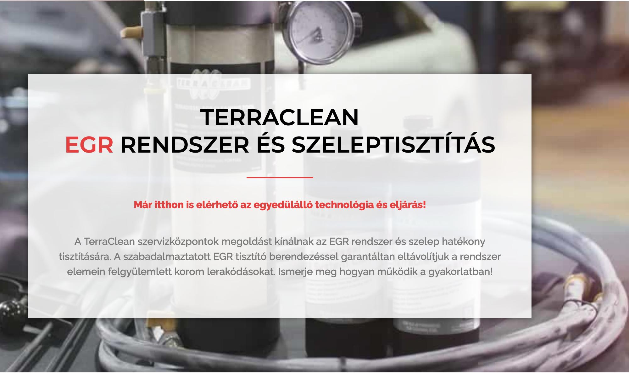 terraclean egr tisztítás